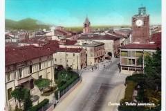 CASCINA-PISA-VEDUTA-PANORAMICA-ACQUARELLATA-ANIMATA-AUTO-BICI-CAMION-1965-VIAGGI