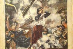 ILLUSTRATA-1904-PONSACCO-PISA-IL-TETTO-CHE-FRANA-IN-UNA-SCUOLA