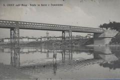 156115 santa croce sull'arno ponte di ferro animata viaggiata anni 10