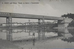 175415 santa croce sull'arno ponte di ferro animata viaggiata anni 10